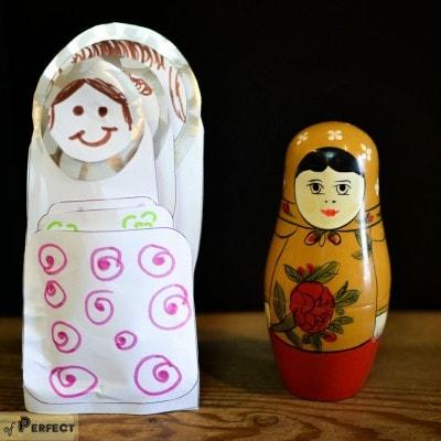 Russian Nesting Paper Dolls