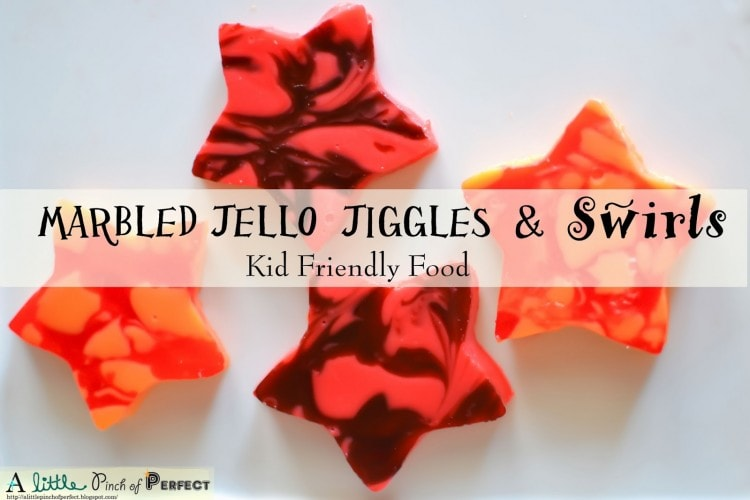 Marbled Jello Jigglers and Swirls