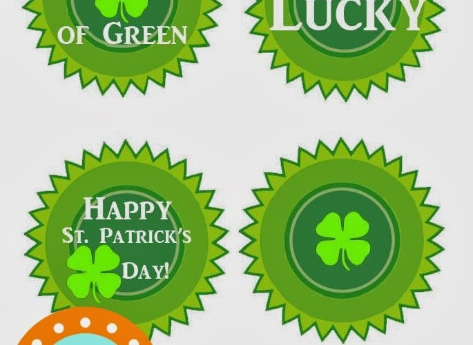 Happy St. Patrick's Day Buttons Free Printable