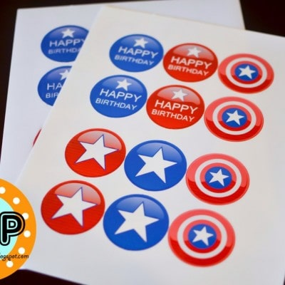 Captain America Free Birthday Printable