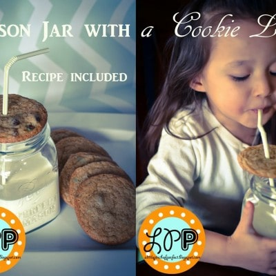 Mason Jar with a Cookie Lid (Recipe Included)
