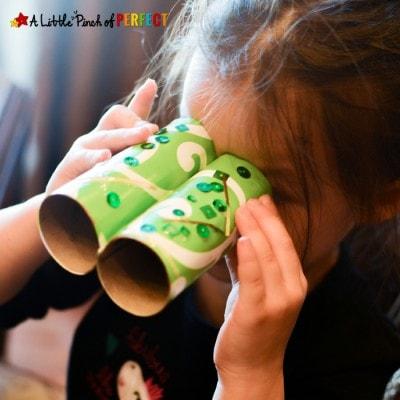 Leprechaun Binoculars Toilet Paper Roll Craft: Easy St. Patrick's Day Craft for Kids