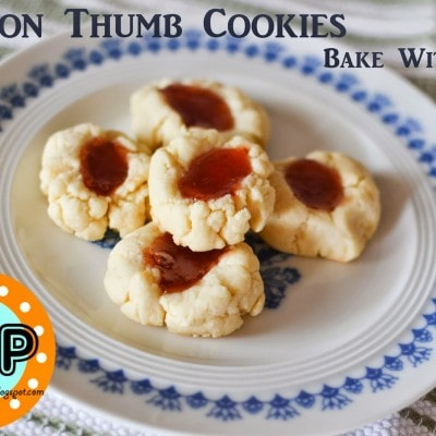 Lemon Thumb Cookies (Bake With Kids Recipe)