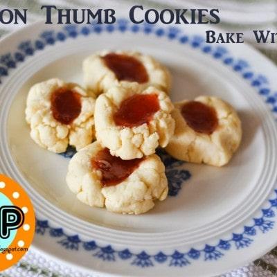 Lemon Thumb Cookies (Bake With Kids Recipe)