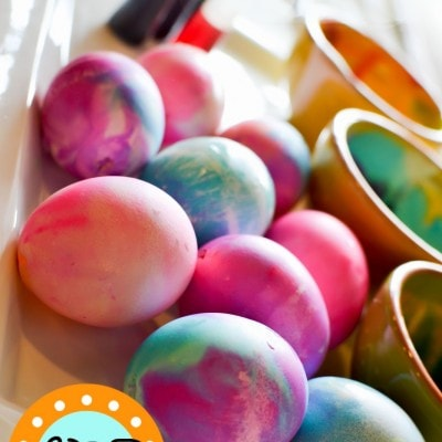 Marbling Easter Eggs You Can Eat (Kids Craft)