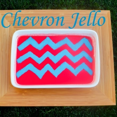 Chevron Striped Jello DIY