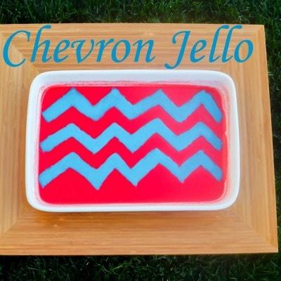 Chevron Striped Jello DIY