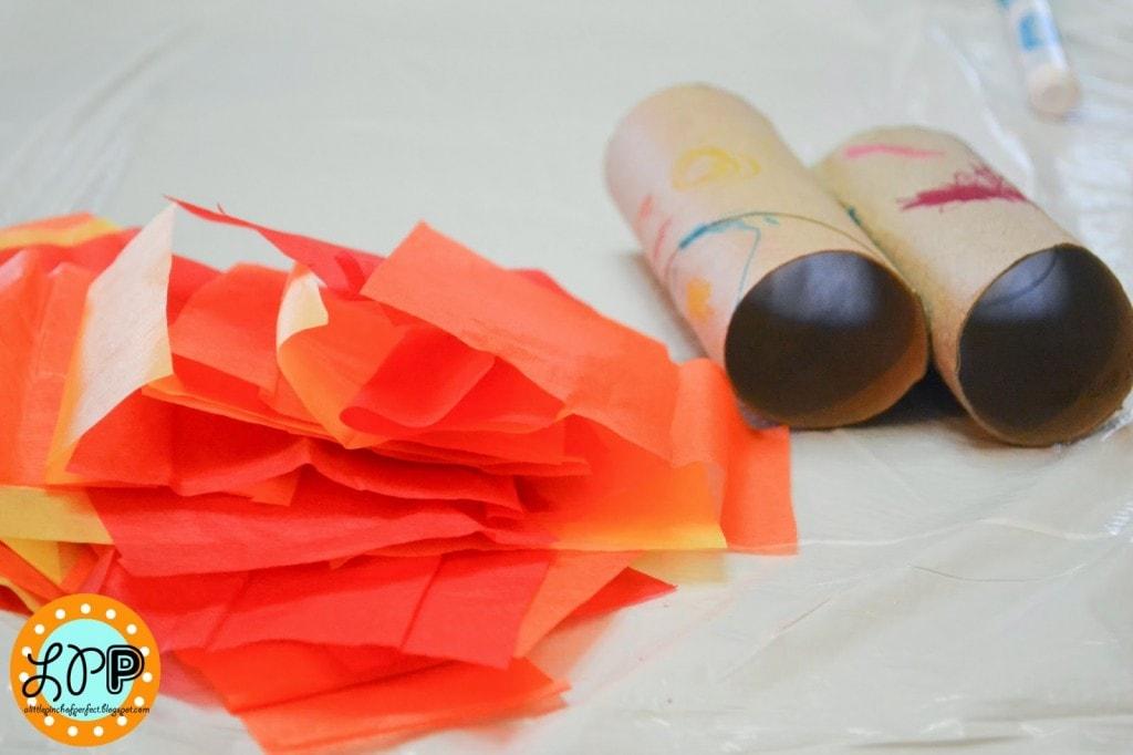 Sun Catcher Flowers With Toilet Paper Rolls Kid Craft