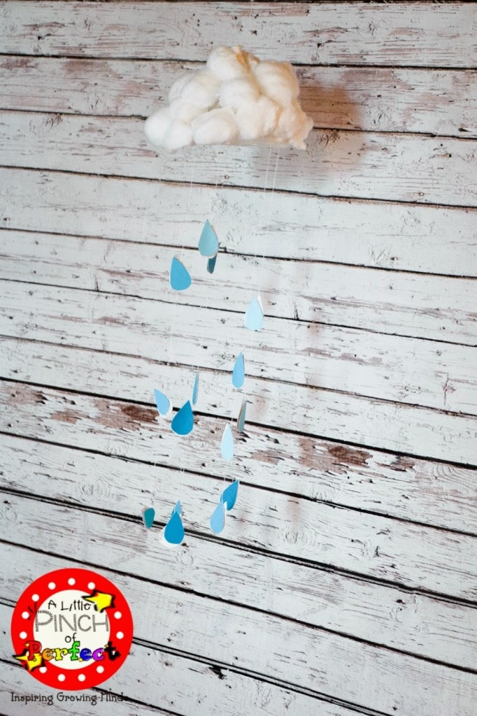 Rain Cloud Kids Craft for Spring