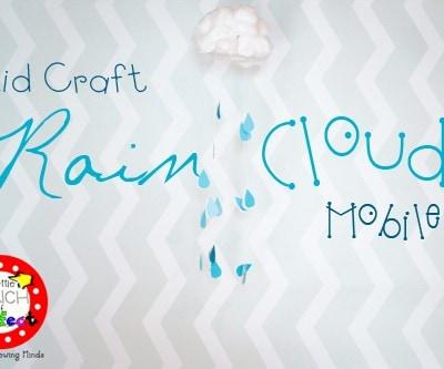 Rain Cloud Kids Craft for Spring