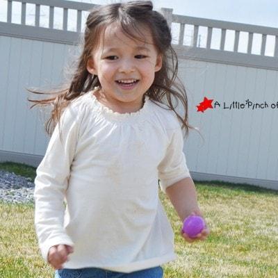 Gross Motor Activities for Preschoolers with Plastic Easter Eggs