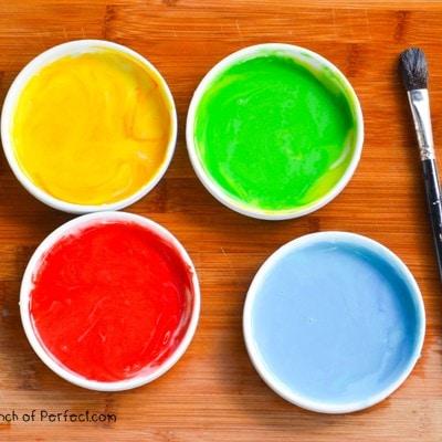 2 Ingredient Edible Paint Recipe (Toddler Safe)
