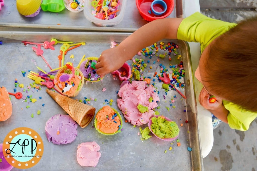 Ice Cream Sensory Play Frosting Play Dough Recipe