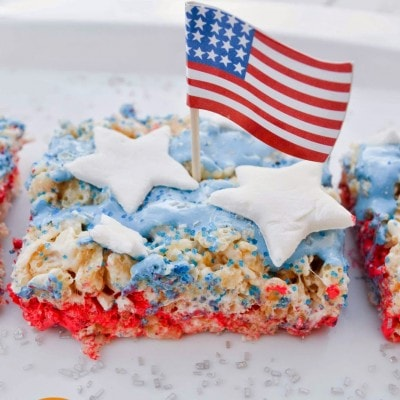 Star Spangled Banner Rice Krispie Treats