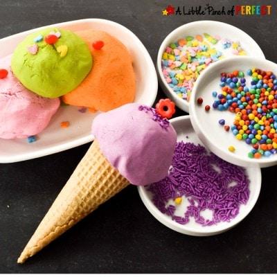 Ice Cream Sensory Play: Frosting Play Dough Recipe