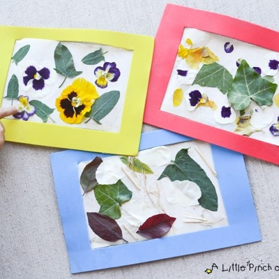 Nature Art Collage & Easy Reusable Craft Frame for Kids