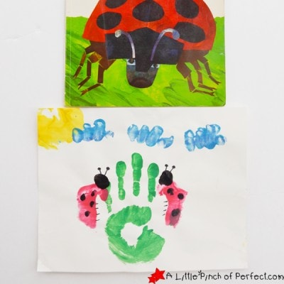 The Grouchy Ladybug Handprint Craft Inspired by Eric Carle