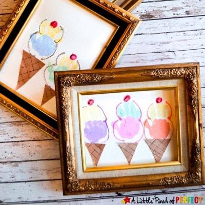 Ice Cream Handprint Summer Craft for Kids