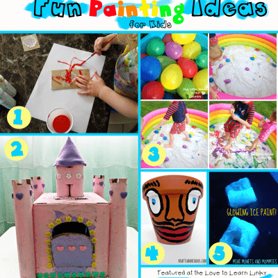 Fun Painting Ideas for Kids & the Love to Learn Linky