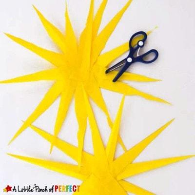 Paper Sun Craft: Scissor Skill Activity for Kids