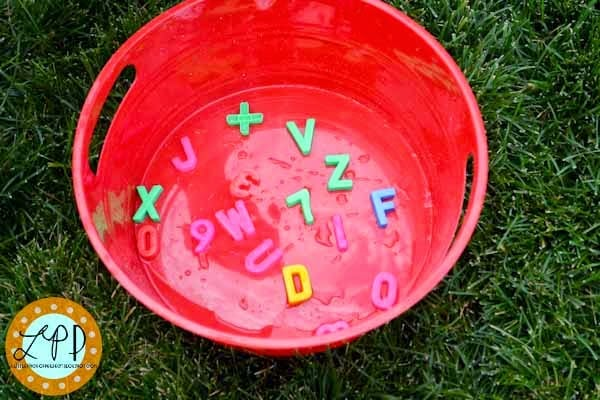 ABC Soup Water Play for Learning Letters