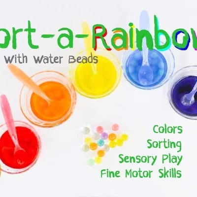 Sort-A-Rainbow Colors & Sensory Activity