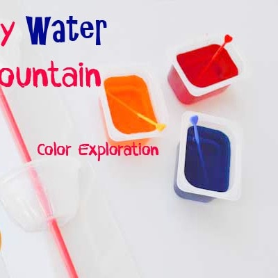 Water Fountain Color Mixing Kid Activity