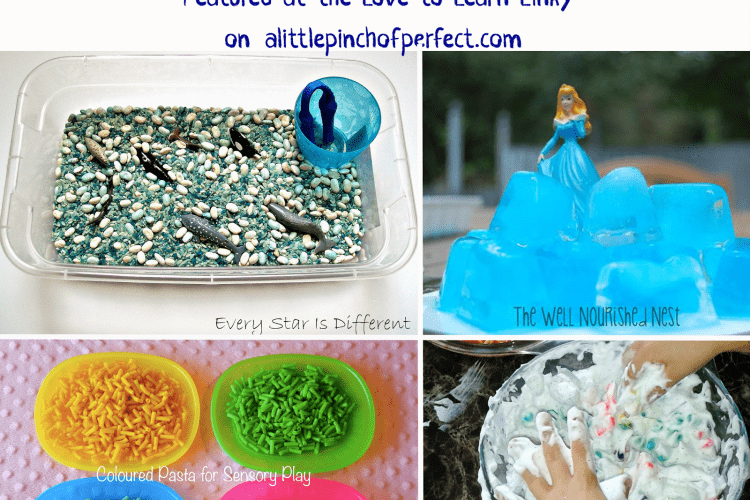 Sensory Play for Little Hands & Feet Featured on the Love to Learn Linky #5