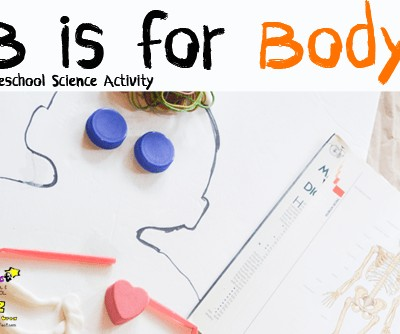 Letter of the Week A-Z Series: B is for Body Preschool Science Activity