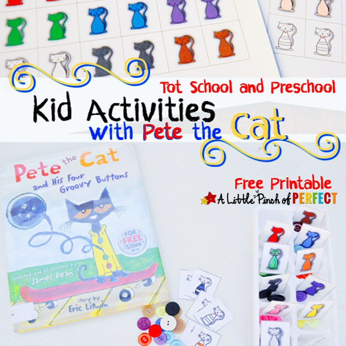 Letter of the Week: C is for Cat with Pete the Cat Free Printable Math and Sorting activity