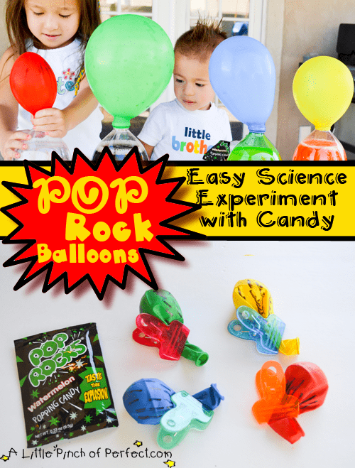 pop rock balloons easy science experiment with candy