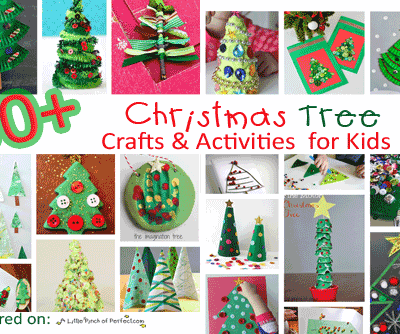 50+ Christmas Tree Crafts and Activities for Kids