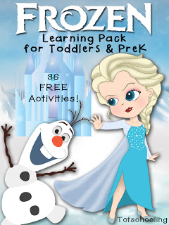Frozen Learning Pack for Toddlers & PreK: Free Printable