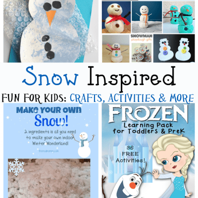 Snow Inspired Fun for Kids: Crafts, Activities and More (Love to Lean Linky #20)
