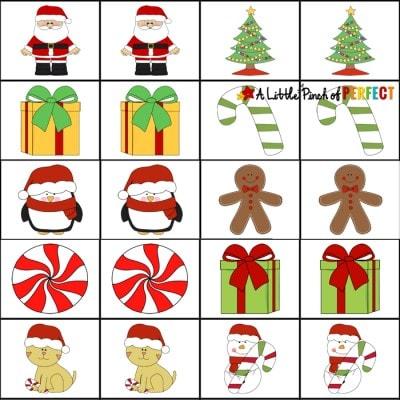 Free Christmas Printable Memory Game for Kids