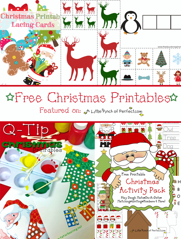 photograph regarding Printable Christmas Activities titled Cost-free Xmas Printable Pack Studying Printables for Children -