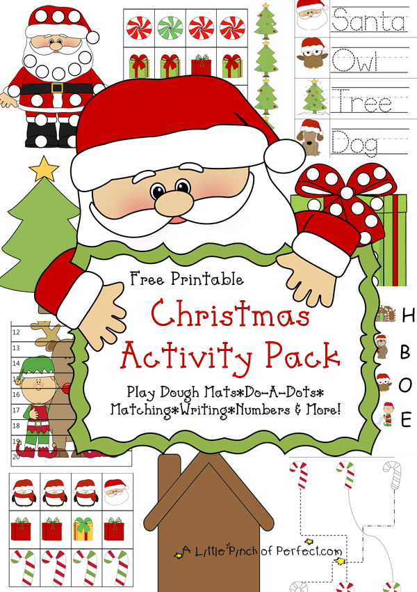 the activities in this pack include the following - Free Printable Christmas Activity Pages