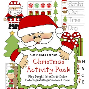Free Christmas Printable Pack & Learning Activities for Kids