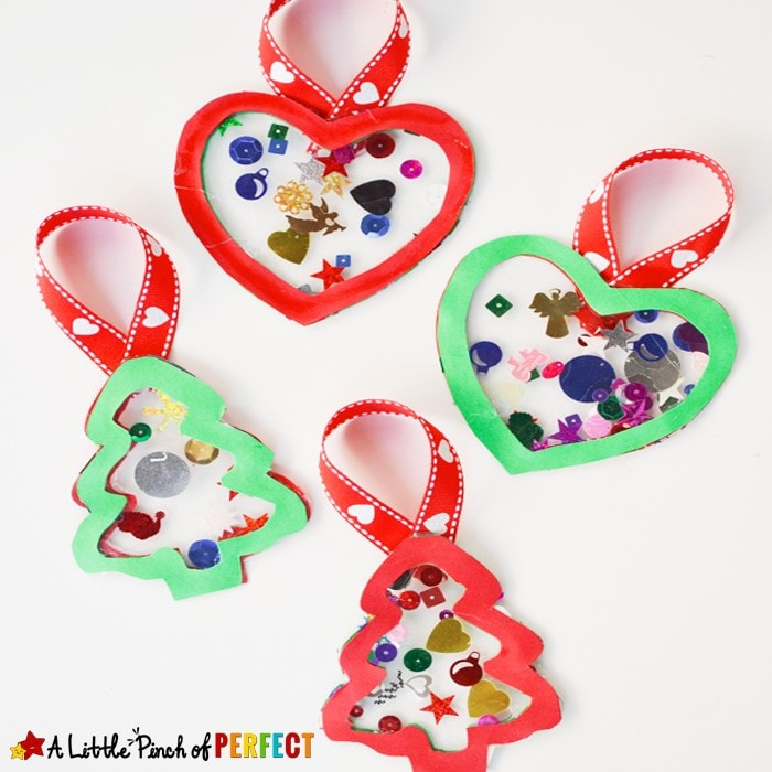 Easy Homemade Contact Paper Ornaments for Kids