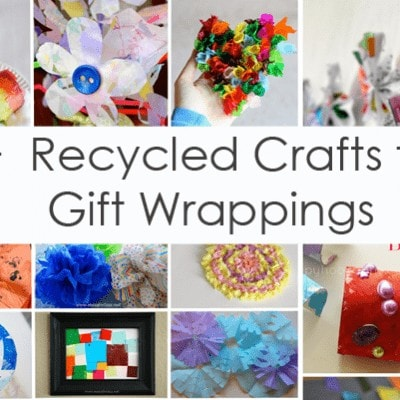 70+ Recycled Crafts from Gift Wrappings (Love to Learn Linky #23)