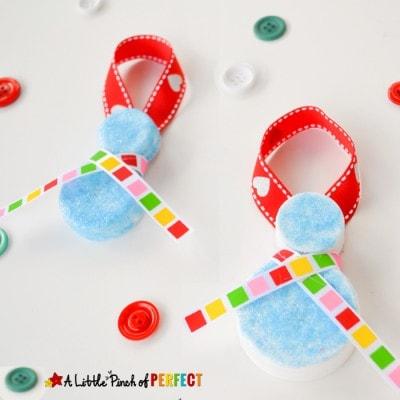 Homemade Milk Cap Snowman Ornaments: Christmas Kids Craft