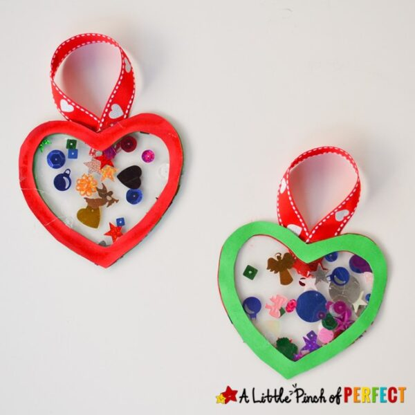 Kids can make bright and cheery Christmas ornaments with paper and contact paper following our easy directions. #Christmascraft #Christmas #craft #kidscraft