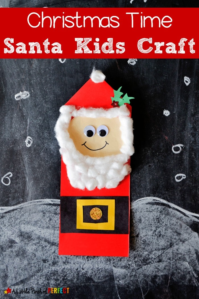Paper Santa Kids Craft: Easy to make with kids for a Merry Christmas