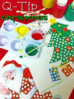 Free Christmas Q-Tip Painting Printables