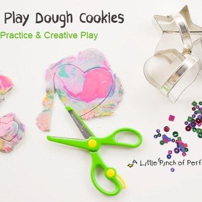 Making Play Dough Cookies: Scissor Practice & Creative Play