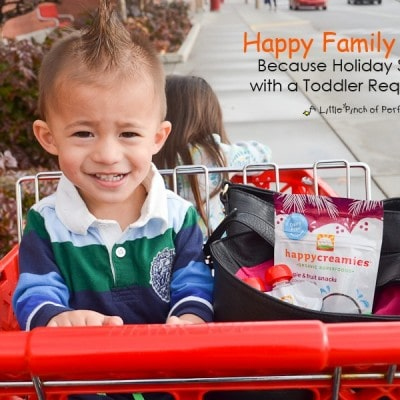 Happy Family Review: Because Holiday Shopping with a Toddler Requires Food