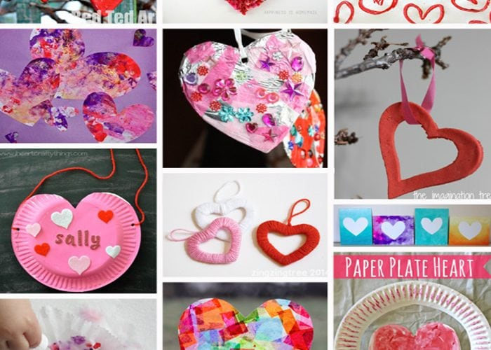 25+ Adorable Valentine's Day Heart Crafts for Kids