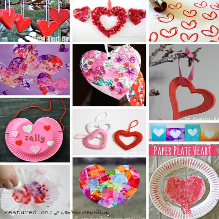 Happy Valentines Day Heart Crafts for Kids (Preschool, Kindergarten, February, First Grade)