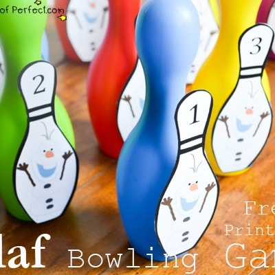 Free Printable: Olaf Bowling Game