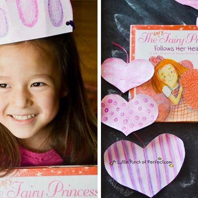 Valentine's Day Heart and Princess Crown Craft for Kids